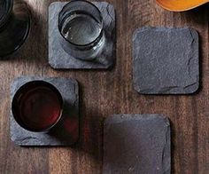 The slate coasters will add the perfect touch to any rustic home or outside bar and patio area. With their simple yet sophisticated slate design, they provide...