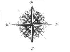 Mandala Compass Tattoo Design                                                                                                                                                                                 More