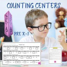 Math Centers Counting to 120 & Skip Counting 2's 5's 10's by Innovative Teacher