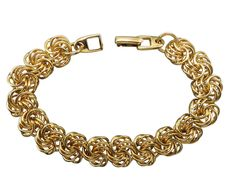 Highlight your favorite ensemble with this chic crochet link bracelet from Napier, complete with a fold over clasp. #stuff4uand4u