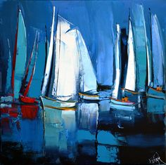 1761 - Les voiles blanches - 60x60