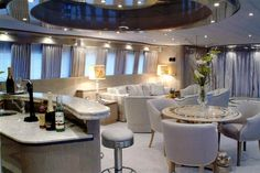 Bellissima private yacht charters Elite Yacht Charters Mediterranean Caribbean private yacht interior