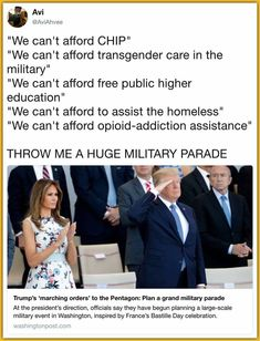 Guess Trump thinks boosting his ego is more important then helping the people who got him into office. What a jerk! Social Issues, Worlds Of Fun, Social Justice, Food For Thought, Thought Provoking, Feminism, Equality, Just In Case, America