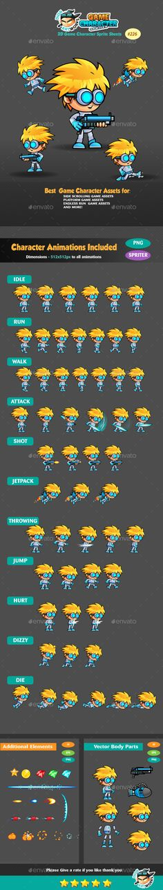 2D Game Character Sprites 226 Download here: https://graphicriver.net/item/2d-game-character-sprites-226/16466464?ref=KlitVogli