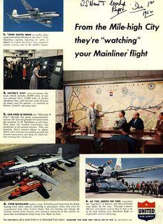 Vintage United Air Lines - 1952