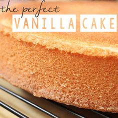 The PERFECT vanilla scratch cake from Kara Andretta of Kara's Couture Cakes. She has perfected a tender, light crumb that is perfect for both wedding cakes and sculpted cakes. Click through to see the recipe!