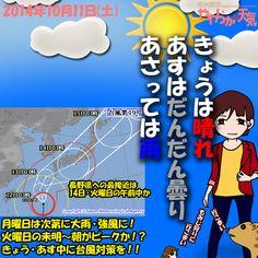 きょう(11日)の天気は「晴れ!+強い風」。空の高い所に雲が出るくらいで、一日をとおして晴れる見込み。ただ、西寄りの風が時おり強めに吹きそう。日中の最高気温はきのうと大体同じで、諏訪市で21度の予想。