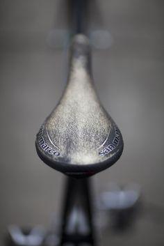 Grey Bicycle Seat
