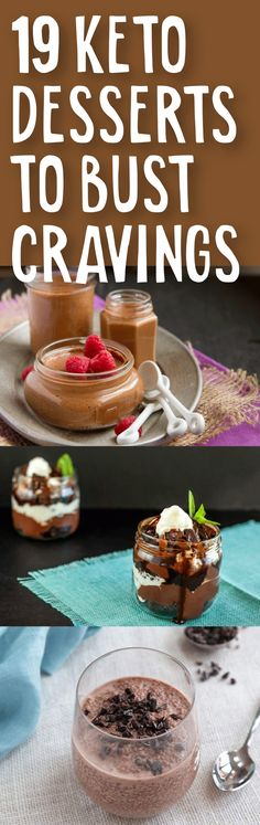 Keto Desserts To Bust Cravings Check out these no sugar keto desserts. These will end your craving without breaking your keto diet.Check out these no sugar keto desserts. These will end your craving without breaking your keto diet. Keto Desserts, Keto Friendly Desserts, Keto Snacks, No Sugar Desserts, Low Carb Deserts, Low Carb Sweets, Ketogenic Recipes, Low Carb Recipes, Raw Recipes