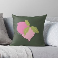 Buy Pillows, Throw Pillows, Juicy Fruit, Cozy House, Original Art, Peach, Cushions, Bright, Room