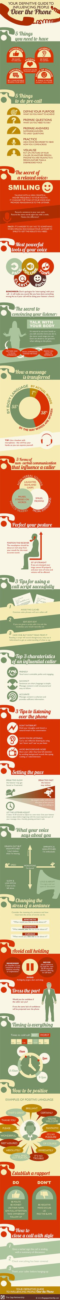 How to: Influence People Over the Phone [Infographic]