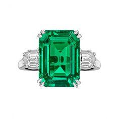 Van Cleef & Arpels Colombian Emerald-Cut Emerald & Diamond Ring – Betteridge