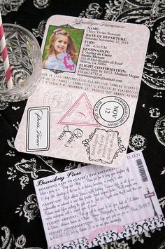 French passport invitation details...adorable!!!
