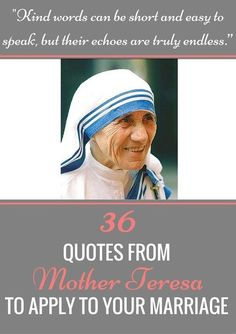 For someone who never married, Mother Teresa gives some amazingly profound marriage advice. // Marriage Laboratory -- #marriagetips #relationshiptips
