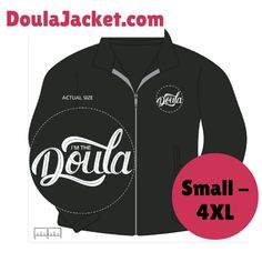 """This is a layering piece that every doula will love. - On the top left side is our """"I'm the Doula"""" embroidered logo in white thread that boldly shows your Doula pride. - Fabric is 13.8oz 100% polysete"""