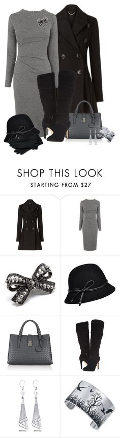 """""""1-14-16"""" by nellegrau ❤ liked on Polyvore featuring Burberry, Whistles, Pink Mascara, Betmar, Bottega Veneta, GUESS, Allurez and Echo"""