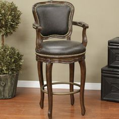 American Heritage Salvatore Swivel Bar Stool with Cushion