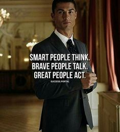 Positive Quotes : QUOTATION – Image : Quotes Of the day – Description Smart people think great people act. Sharing is Power – Don't forget to share this quote ! Attitude Positive, Attitude Quotes, Citations Business, Business Quotes, Business Ideas, Short Inspirational Quotes, Motivational Quotes For Success, Motivational People, Quotes Positive