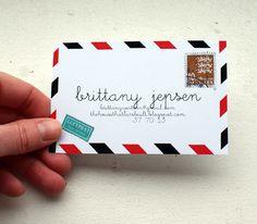 Postcar meets business | #Business #Card #letterpress #creative #paper #businesscard #corporate #design #visitenkarte #corporatedesign < repinned by an #advertising agency from #Hamburg / #Germany - www.BlickeDeeler.de | Follow us on www.facebook.com/Blickedeeler
