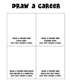 Draw a Career (Gender Stereotypes) www.elementaryschoolcounseling.org