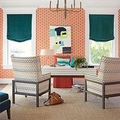 Fabric shades in modern interior