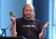 Andy Cobley, a lecturer at University of Dundee in Scotland, has been working out how to run Cassandra on multiple Raspberry Pis to make it possible for students to experience the database running on multiple ethernet connected computers without building datacenters and server racks. Photo credit: Cassandra Summit, 2013.