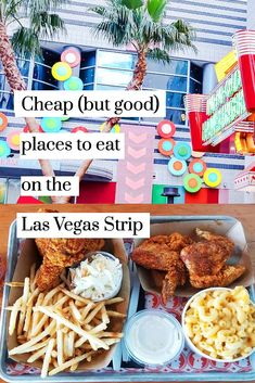 Cheap (but good) places to eat on the Las Vegas Strip. This is a list of affordable and budget-friendly restaurants that you can walk to on the Las Vegas Strip.