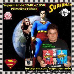 Bernardo Com Raridades Como Superman de 1948 e 1950 Que São os Primeiros Filmes do Superman heroi de Krypton Bernardo Colecionador de Recife PE WhatsApp 81 - 9999-8025