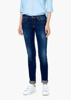 Skinny Fit, push-up-Design, stone-Waschung, mittlerer Sitz, fünf Taschen, gürtelschlaufen, reiß- und Knopfverschluss. ZUSAMMENSETZUNG: 98% BAUMWOLLE, 2% ELASTHAN....