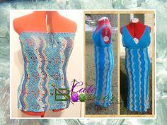 Salt Water Tube Top and Salt Water Dress by #Crochet Designer Leah Eneas of Late Bloomer Crochet Brand out of The Bahamas. Crochet top. Crochet dress.