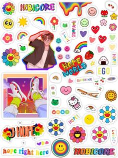 Kpop Stickers, Printable Stickers, Cute Stickers, Bts Aesthetic Wallpaper For Phone, Bts Wallpaper, Journal Stickers, Scrapbook Stickers, Black And White Graffiti, Bullet Journal Font