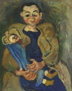 Chaïm Soutine – Femme à la poupée, 1923/24, Oil on canvas, 80.8x65.1 cm