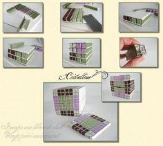 Fimo Cristalline, tuto et bijoux en polymère: Tuto canne Ecossais version 1