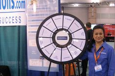 Online Tutor Solutions Prize Wheel -- Buy this Prize Wheel at http://PrizeWheel.com/products/floor-prize-wheels/floor-table-black-clicker-prize-wheel-12-slot/.