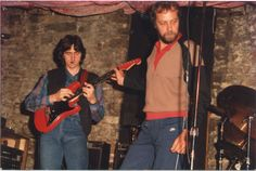 "Allan Holdsworth with ""The Red Baron"" '82"