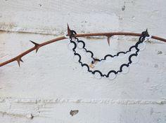 Crochet statement necklace Modern jewelry Crochet by GuruMIme, $30.00