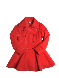 JUNIOR GAULTIER FELT DOUBLE BREASTED COAT - LUISA VIA ROMA | Ador
