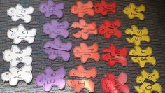 Alphabet gingerbread men puzzles.