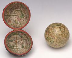Terrestrial and celestial pocket globe - 1783