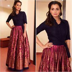 ab136266f Brocade Skirt Ideas For Fall Banarasi skirt