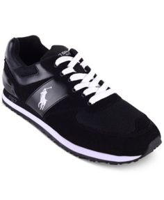 Polo Ralph Lauren Slaton Pony Sneakers, Black/White