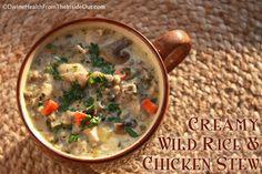 Creamy Chicken & Wild Rice Slow Cooker Stew | Divine Health