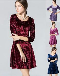 Find More Dresses Information about Women Winter Velvet Brief Office working wear dress Clothing Plus size Skater New Year Casual express clothing Robe Female,High Quality clothing pant,China clothing trade Suppliers, Cheap clothing thailand from Zhongshan Top Fashion Store on Aliexpress.com
