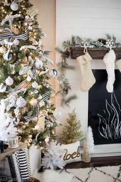 The perfect Christmas tree, silver, gold, black and white  {$400 Nordstrom giveaway!}