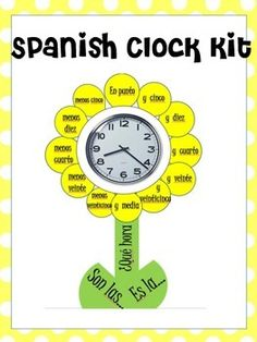 Decorate your classroom clock with this quick and easy printable cut out!!