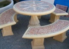 Garden+Furniture | Precast Concrete tables; Patio outdoor furniture - for Sale in Sun ...