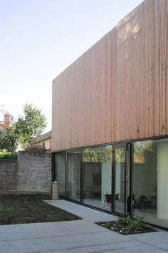 Wooden Frame House by a + samuel delmas