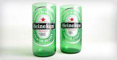 Heineken Beer Bottle Tumbler Drinking Glasses