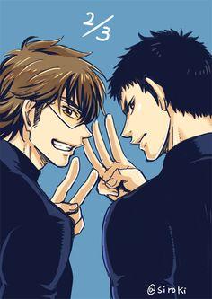 Hot Baseball Guys, Miyuki Kazuya, Hot Anime Guys, Anime Boys, Kurotsuki, Art Poses, Anime Angel, Pretty Boys, Best Friends