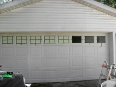 D.I.Y. Faux Carriage Garage Door | One Good Thing by Jillee